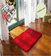 polyester microfiber washable floor tile shaggy carpet
