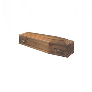 High quality Hand-Carved Wooden Coffin Jewish Casket TD-F01