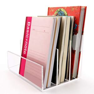 Helder Plexiglas Acryl Bestandsmap Houder Rack Sorter voor Document Papieren Brief Boek Envelop Laptop Organizer Office