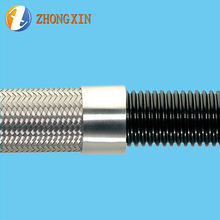 Flexible Convoluted Ptfe Tubing SS Braided  Hose