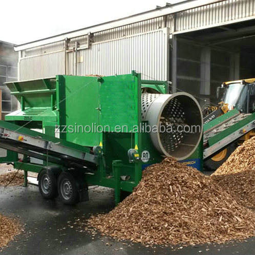 China supplier stationary sawdust firewood mobile wood chips sieve price for fertilizer biomass woodchip screening