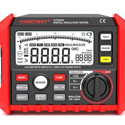 Hot Selling HT5205 2500V Megohmeter Digital Insulation Tester Multimeter