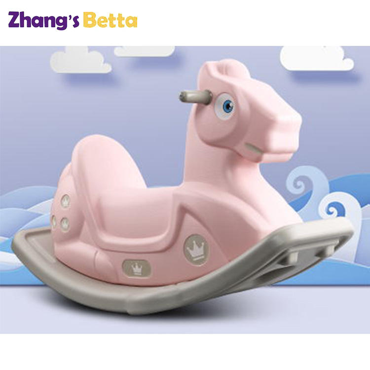 Hot Sale Indoor Tahan Lama Anak Mainan Plastik Rocking Horse Kids