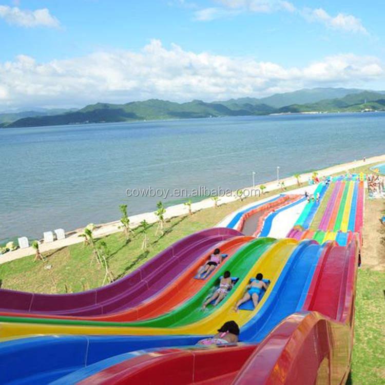 Neue design großer wasserrutsche durable water park reitet beliebten verwendet wasserpark schlitten für verkauf