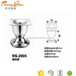 9cm Height Goblet shape folding table leg&furniture iron stand&metal sofa feet