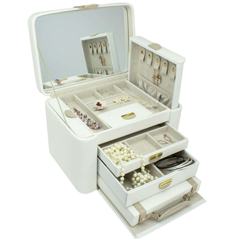 Designs jewellery organiser lcream mink two-tone extra large jewellery box