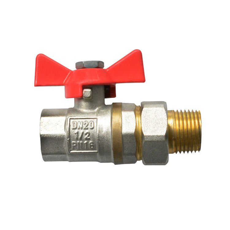 3//4 BALL VALVE PN40 DN20 600CWP//CW617N Red Butterfly Handle