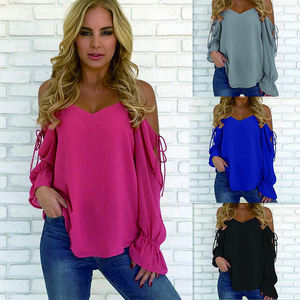 New Fashion Ladies Tops Woman 2018, Sexy Off-shoulder Women Blouse