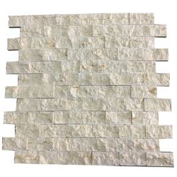 Best price beige marble split face interior stone 3d brick wall panels