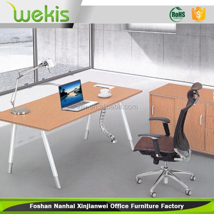 Caliente venta ordenador ajustable en altura en mesa de Metal <span class=keywords><strong>muebles</strong></span> de la pierna