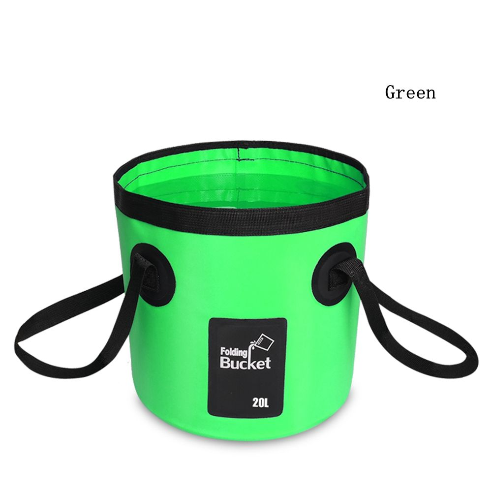 Wholesale Multifunction Outdoor 20L Camping Fishing Foldable Water Container Portable Plastic PVC Folding Water Bucket