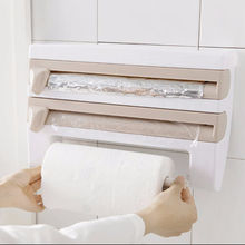 Triple Paper Dispenser for Kitchen Roll, Aluminium Foil and Cling Film WrapTissue pager