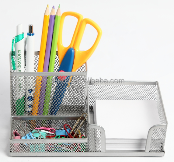 Hangzhou Supplier High Quality Metal Mesh Office Stationery Desk Organizer