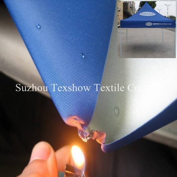 Flame retardant polyester oxford waterproof tent fabric