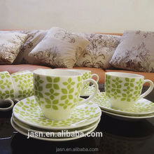 hot sale new ceramic small coffee cups and saucers set