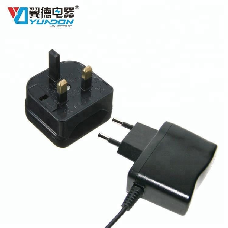UK 3 Pin to EU Euro 2 Pin Travel Electrical Adaptor AC Adapter Converter