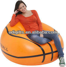 Pvc gonflable de meubles de pvc de basket-ball gonflable chaise