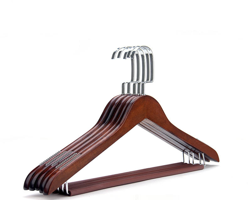 Inspring High end custom wooden hanger, custom clothes hanger for garment with customized logo