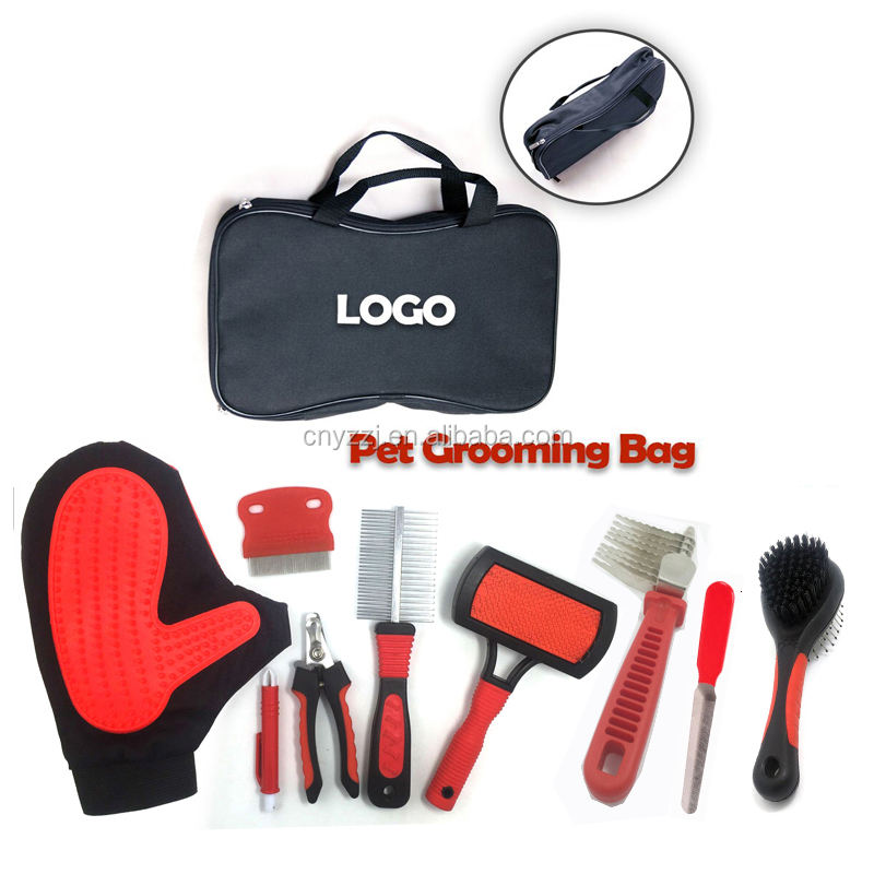 9 Piece Set Pet Grooming Brush Set DeShedding Strumento per Cani