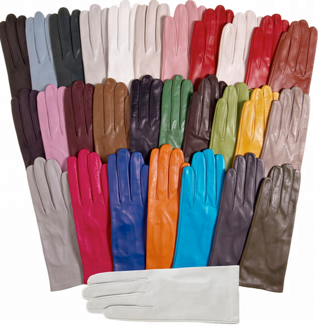 ZF5005 Wholesale Ladies Plain Style Winter Classical color leather gloves women