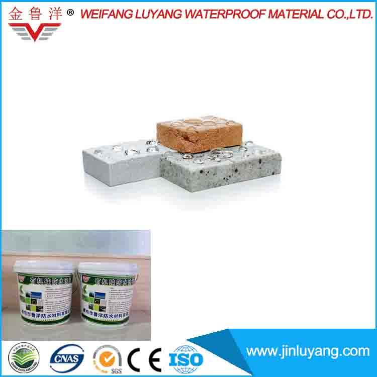 Spray applied liquid transparent silicone rubber waterproof coating