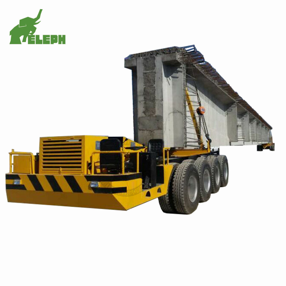 China manufacturer 160ton hydraulic bridge beam lowboy heavy duty transporter dolly type girder truck trailer for sale