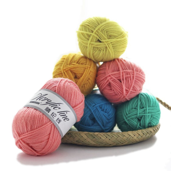 china hot sale acrylic wool baby knitting yarn for hand knitting
