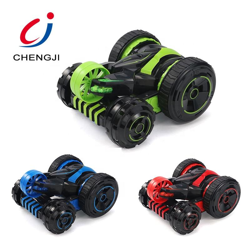 Popular rotation rolling cool climbing double sided remote control stunt car 360