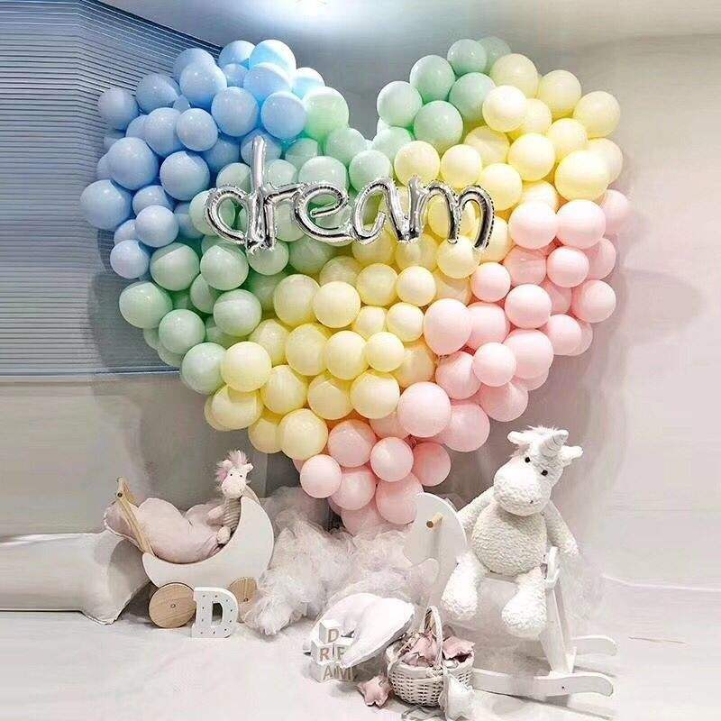 Custom package/printing Macaron colour pastel Party garland decorative balloons BL0020 (2)