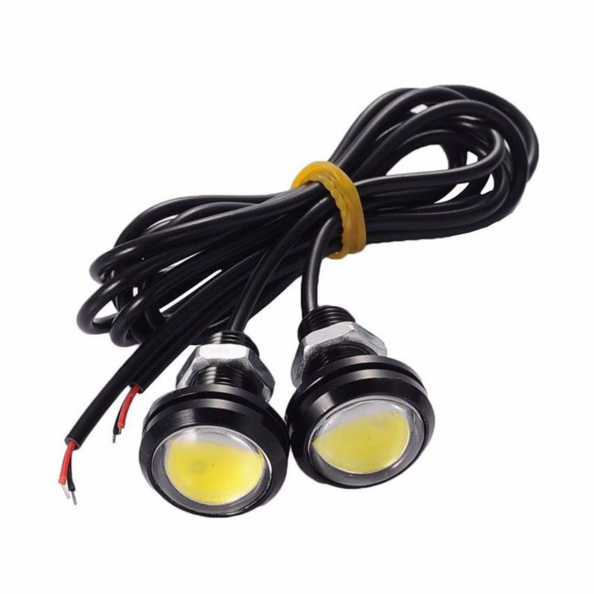 Car LED Red Eagle Eye Day Time Running Lights Backup Reversing Parking Signal Lamps Waterproof Motorcycle Fog Light