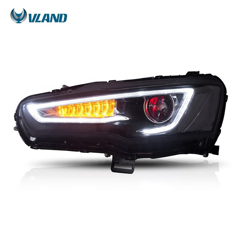 VLAND wholesales sequentail demon eyes head lamp 2008-2017 Galant/Lancer Fortis hatchback led lancer Head light