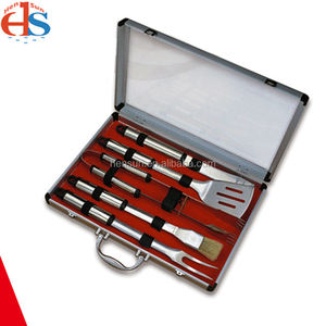 Best Price 5Pcs Bbq Tools Set Gift box Utensil Grill Barbecue Outdoor Stainless Steel Barbeque Grilling Garden Bbq Tool