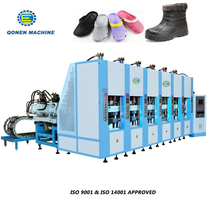 Crocs sandal shoes making machine eva with standard 6 station