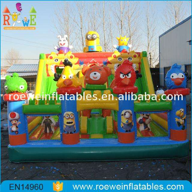 Made in China Animals Kingdom inflatable playground slide for birthday party backyard inflatable slide