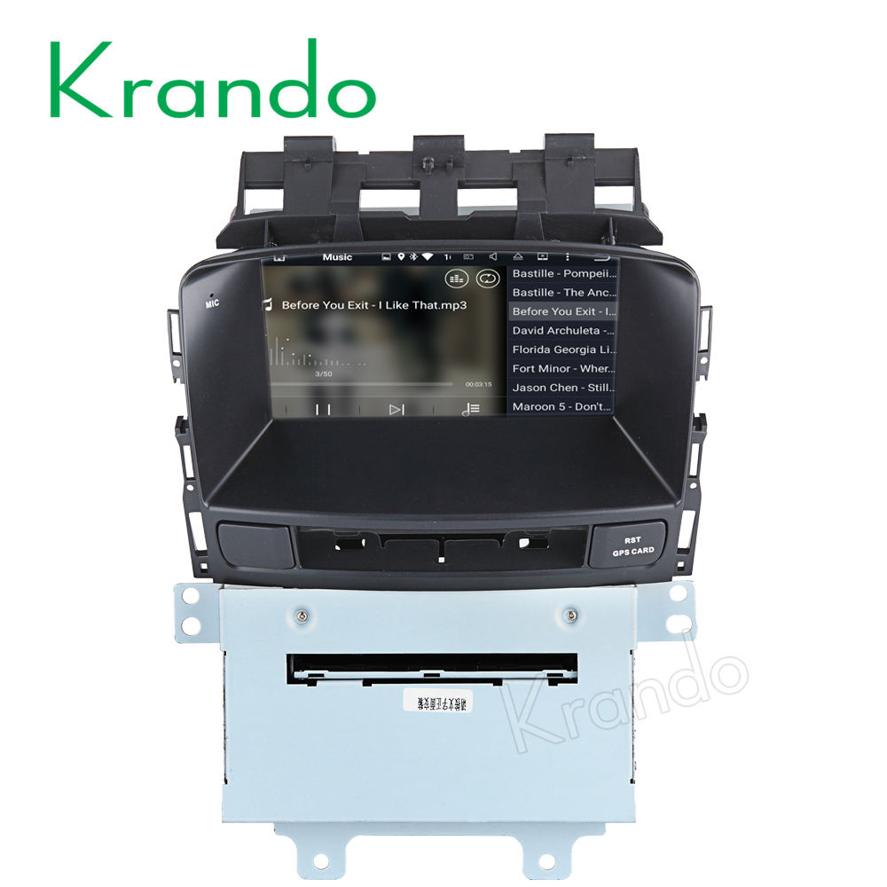 "7 Krando Android 7.1 ""touch screen car multimedia player para Opel ASTRA J Excelle GT/XT 2009-2013 sistema de navegação gps KD-OA713"