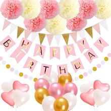 Birthday Decorations Party Supplies for Kids Girl 1st Birthday Sign Party