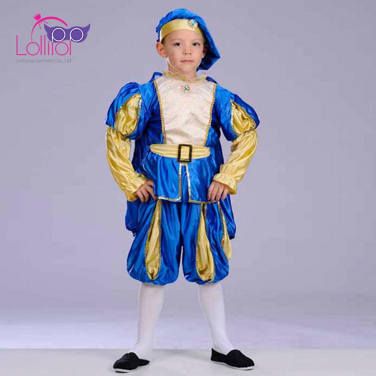 子供のプレイドレスアップ服アラビア王子ファンシードレス衣装男の子用