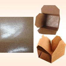 One side PE coated paper 300gsm brown kraft paper+18gsm film for making chicken box/ fast food packaging box/white noodle boxes