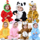 baby animal pajamas/winter fleece onesie for baby/cute baby romper