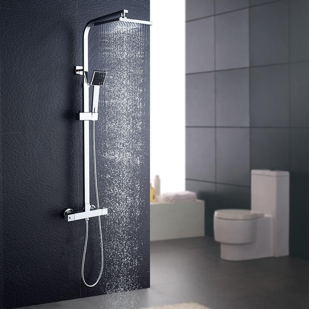 ROVATE Multi-función montado en la pared de <span class=keywords><strong>ducha</strong></span> en el cuarto de baño sistema Plaza termostático <span class=keywords><strong>ducha</strong></span>