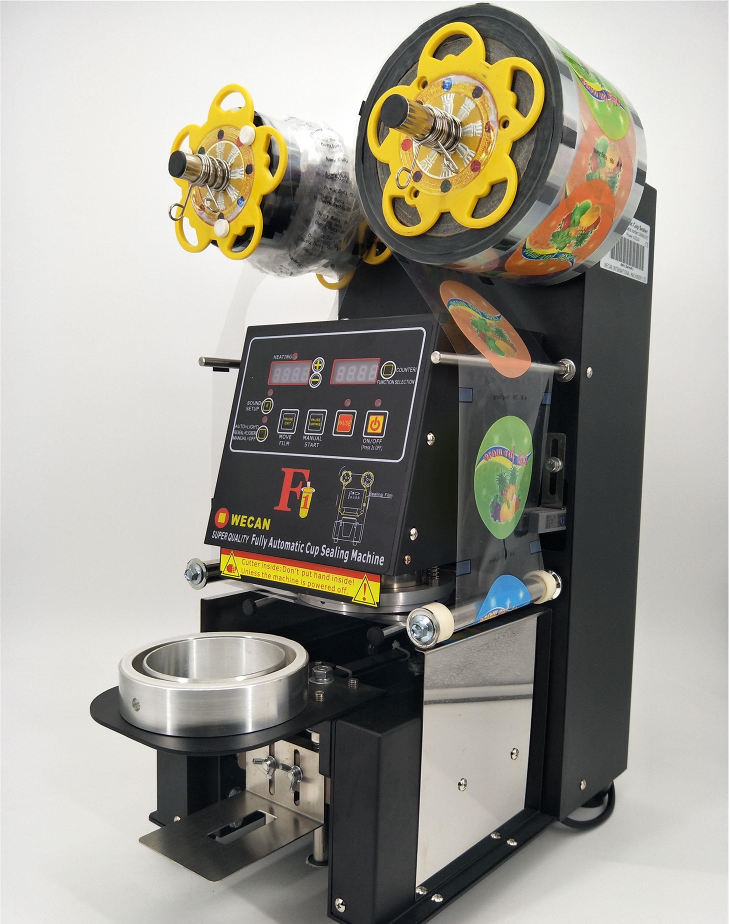 Top quality Mini PP/PET/PLA Bubble Tea Sealer /fully Automatic Heat Induction plastic Cup sealing machine Guangzhou