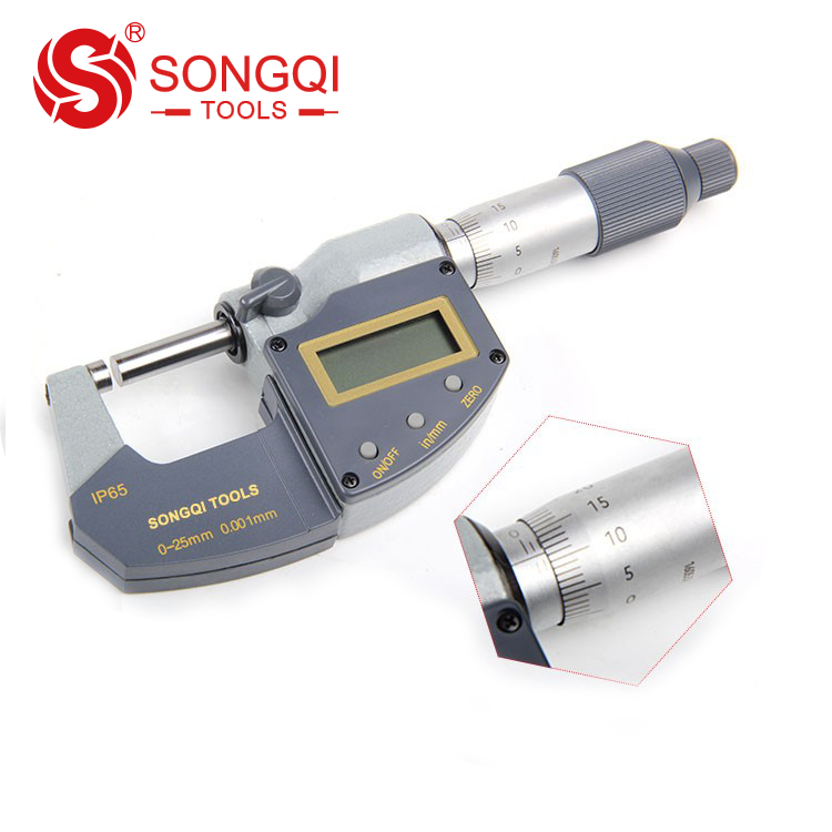 1-2 Measuring Range 52-253-003-1 0.001 Graduation Fowler Full Warranty Outside Inch Micrometer Ratchet Stop Thimble 0.0002 Accuracy