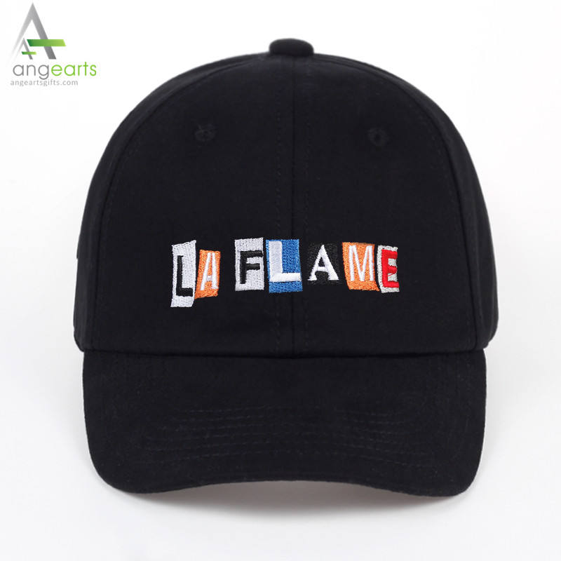 TUNICA LA FLAME embroidery Hat - Black Travis Scotts Birds in the trap sing mcknight kid dad cap men women fashion baseball cap