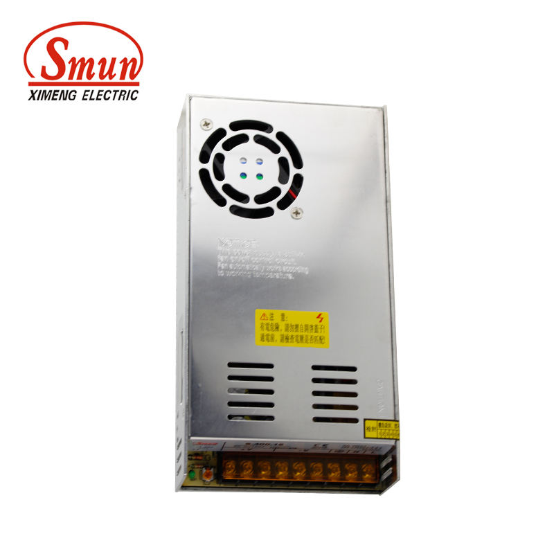 SMUN S-400-24 110V/220VAC Input 24VDC 17A 400W Switching Power Supply With CE RoHS Certificates