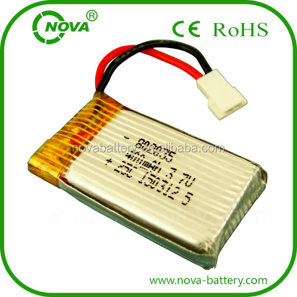 china manufacturer 802035 3.7v 400mah lithium polymer battery for indoor RC TY901 helicopter lipo battery