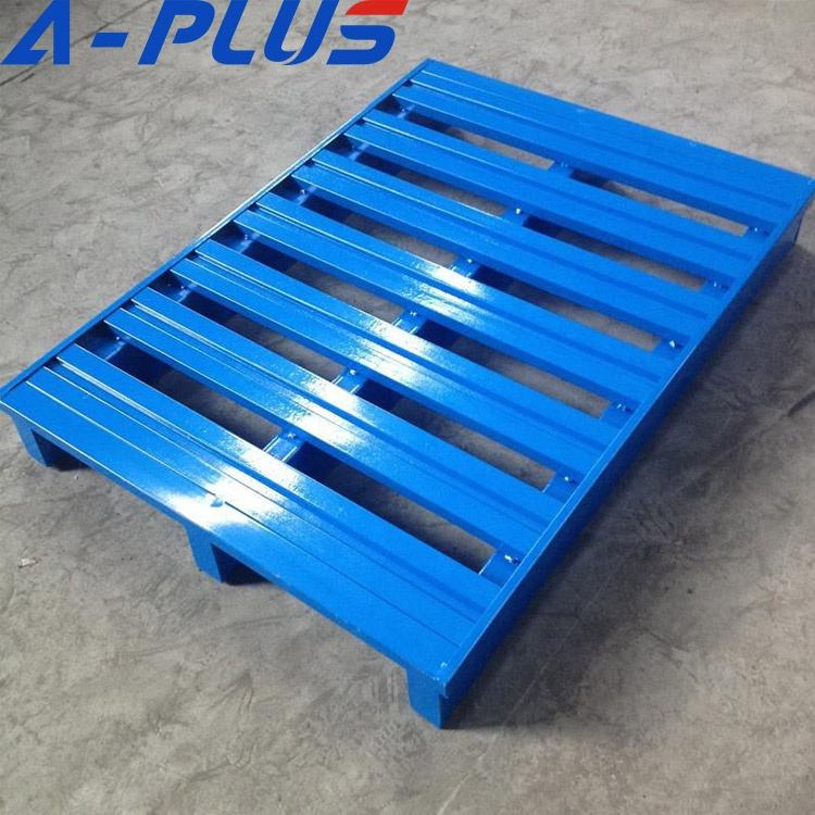 Heavy Duty Slatted/Solid Steel Pallet P/C Blue Or Light Grey Finished Standard Supply By A-Plus
