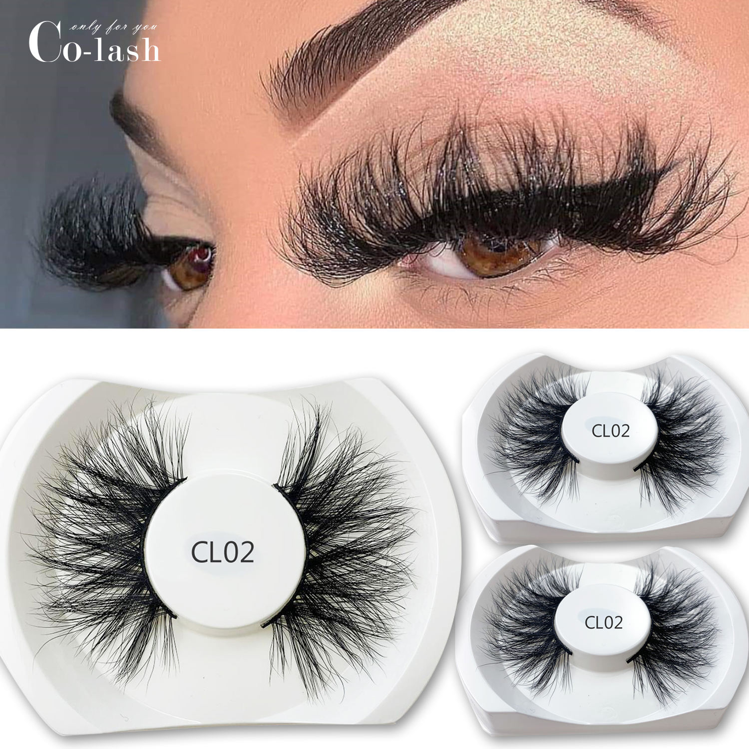Co-Lash 25MM Siberian Mink lashes wholesale vendor 3d mink eyelash manufacturer