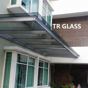 Stainless Steel Front Door Glass Canopy