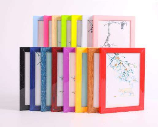 "Wholesale PVC plastic photo frame creative photo frame on the table 6 ""A4 photo wall oil painting frame"