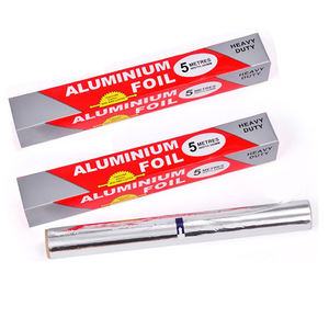 Food Grade Kitchen Heat Resistant Household Aluminum Foil Paper Roll For BBQ Grilling Baking